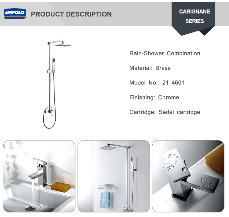 high pressure rain shower faucet with shower head mixer shower system