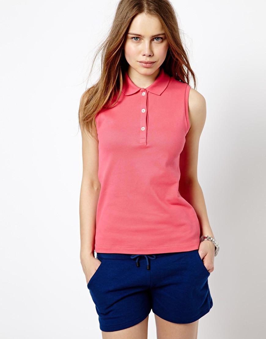 Women Sexy Sleeveless Pink Polo Shirts View Women Sexy Polo Shirts