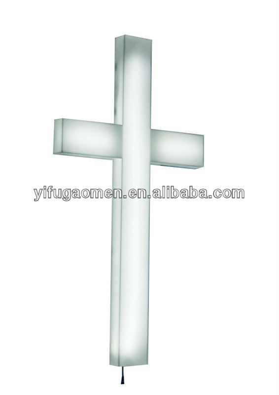 High Quality Custom Religious Acrylic Cross Light Cross