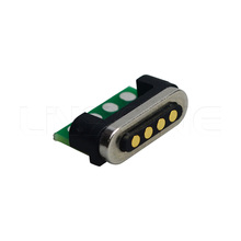 Magnetic 4 pin electrical connector for cable and PCB