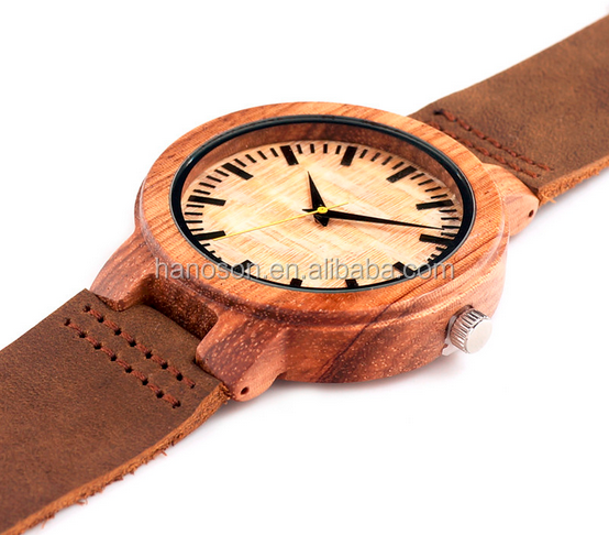 new BOBO BIRD men wooden watches luxury leather leather zebra wood watch