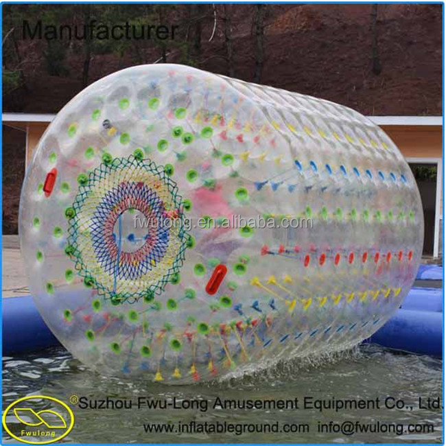 Double layer inflatable tumbleweed ball for sale
