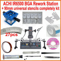 Original ACHI IR6500 BGA rework station + full set bga reballing kit 27 universal bga stencils for laptop xbox360 ps3 WII repair