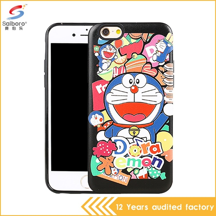 Factory price shockproof low moq tpu+pc for iphone 7 phone case cartoon