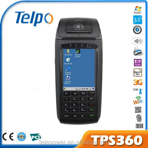 TPS360 windows terminal pos terminal for bus ticker with financial certification