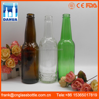 FDA Certified glass 330ml amber green empty beer bottle supplier, brewing custom beer growler supply,glass customized beer mug