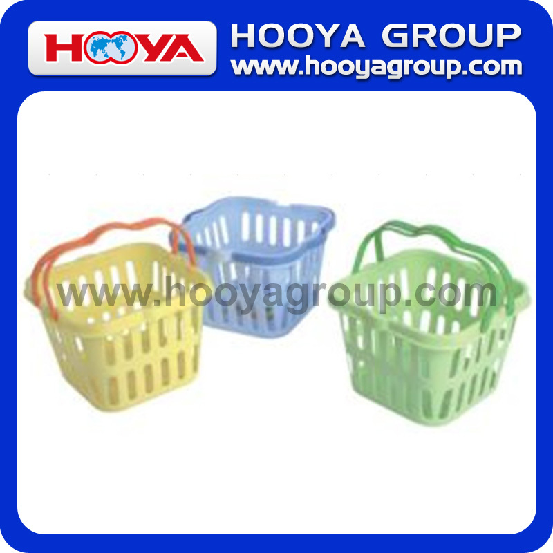 Large Square Plastic Basket With Handle