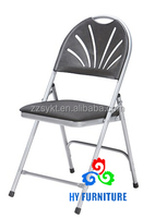 New design metal plastic overstuffed living room office folding chairs for garden and banquet