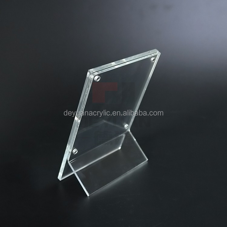 Free Stand Acrylic Clear Magnet Photo Frame Sanwish Picture Frame