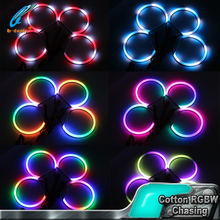 rgbw led rc car chasing angel eyes lights halo rings 131mm color changing led angel eyes