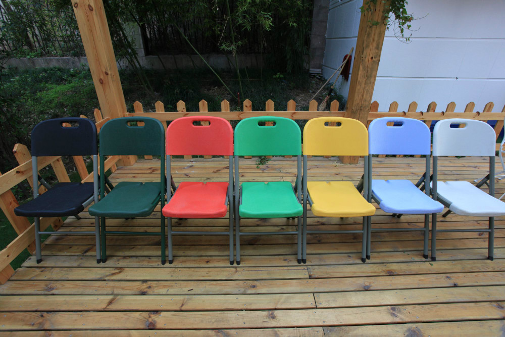 colorful party folding chairs/Silla plegable