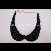 Fashion black beads detachable collar/necklace