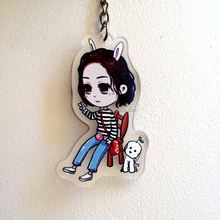 Wholesale custom blank acrylic keychain,personalized cute gift keyrings