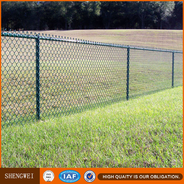 Hot dipped galvanized & PVC coated chain link fence mesh panel