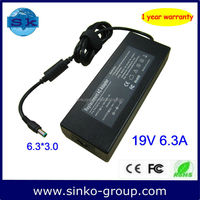 Adapter 120W 19V 6.3A power cord for electric Toshiba Satellite A210, A215, A300, A305, A305D, A350, A350D, A355, A355D Series
