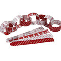 Red and white Vintage Reindeer Snowflake Christmas Paper Chains Garland Decoration