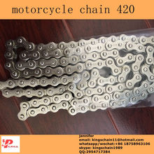 motorcycle accessories wholesale high tensile nickel color motorcycle chain 420