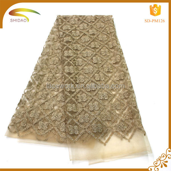 Wholesale African french gold metallic tulle mesh lace/lace african/african net lace fabric