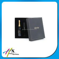 High quality paper box for wine bottle carrier with custom logo printing