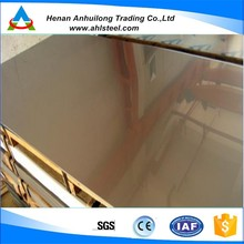 Hot sell good quality rose gold hairline stainless steel sheet