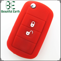 silicone rubber car key covers 3 buttons land rover key cover remote key transponder chip