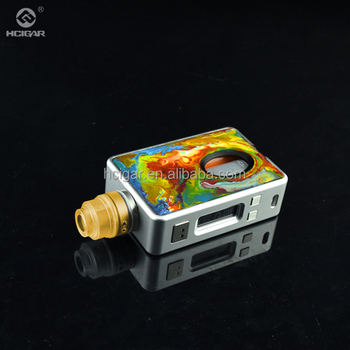 HCigar box mod VT inbox with storage bottle removeavle colorful cover