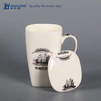 mugs with cover / travel coffee mug lid / household mug cover with square shape