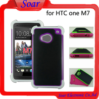 Hybrid Colors Combo Cases 2 in 1 Dual Defend Back Case & Kickstand for HTC one M7