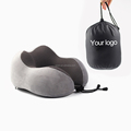 SGS test classic travel sleeping customized color hand bag u shape pillow