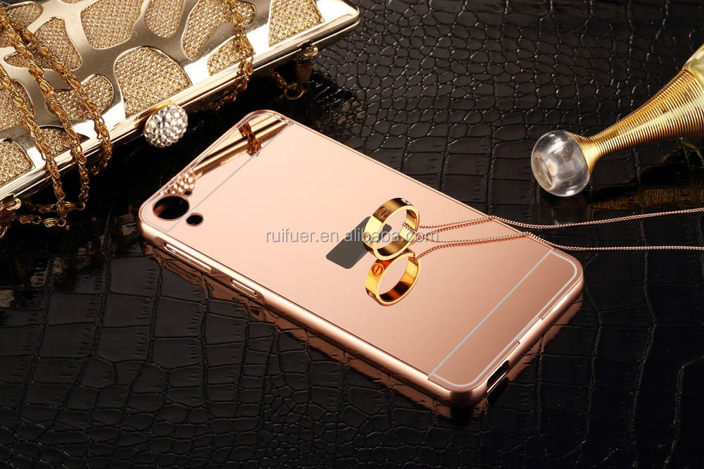 2016 Wholesale Luxury Ultraslim 2 in 1 Detachable Electroplating Aluminum Mirror Metal Bumper Case for Samsung Galaxy A5 A7 A3