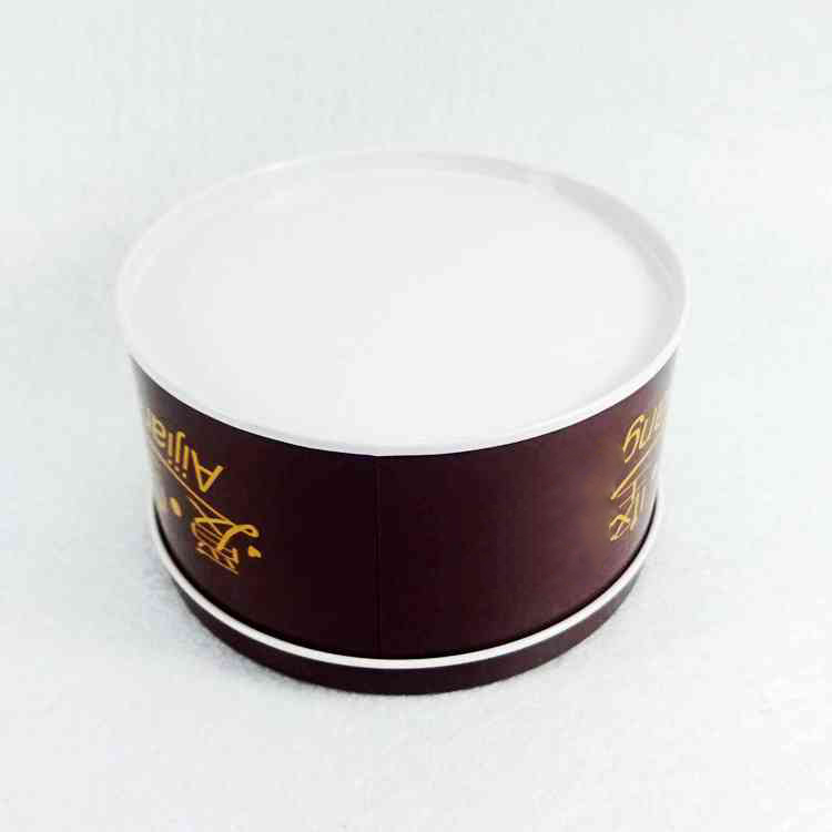 Custom design with clear window round chocolate tin box