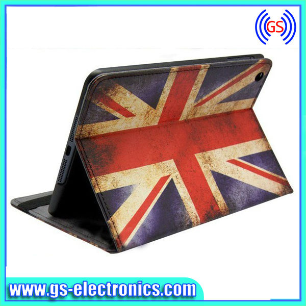 Pattern Design USA UK Flag Leather Case for iPad mini