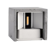 New arrival cement cube outdoor up and down LED outside wall lights 6w size 103*103*110mm