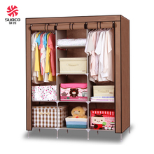 Folding Simple Chest Non-woven Fabric Art Portable Assemble Steel Reinforcement Wardrobe