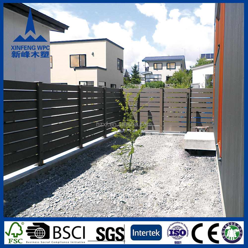 WPC factory prices fence panels, garden house, wpc slat