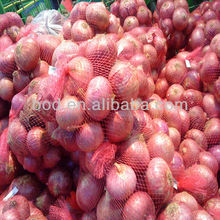 red plastic net bag for onions