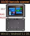 2017 NEW Cheapest 10'' rugged tablet pc,Barcode Scanner Fingerprint NFC Windows10 industrial pc with RJ45 RS232 rugged tablet pc