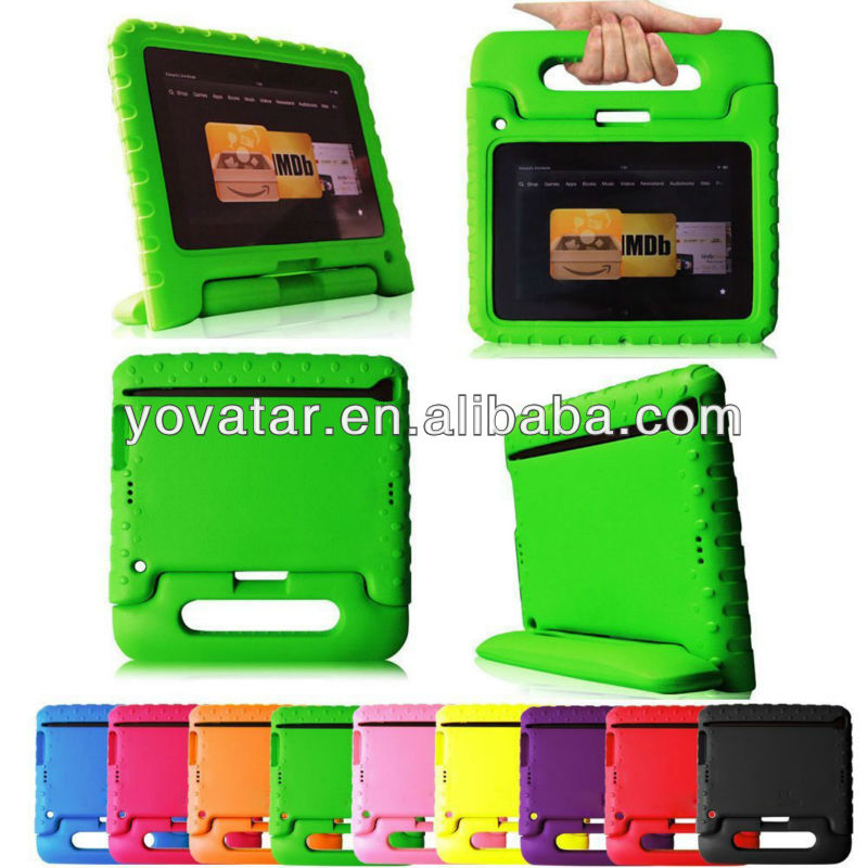 2013 New Arrival Shockproof for Kindle Fire HD EVA Case for Kids