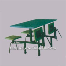 hot sale 4 seats oblong restaurant dining table and folding chairs/restaurant furniture