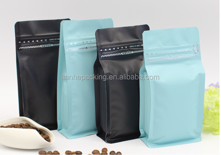 2016 2017 the best selling plastic packaging bags for coffee bean/zipper pouch with your own design for coffee packing