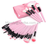 New 32pcs Makeup Brushes Professional Pink/Black Women Beauty Make Up Brushes Kit +Cosmetic Bag