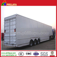 China factory supply cargo van semi trailer for electrical appliances transportation