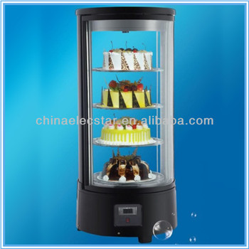 round countertop cake showcase/bakery equipment/refrigerated cake display cooler