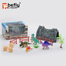 Kids happy play dinosaur set small plastic toy figures with egg