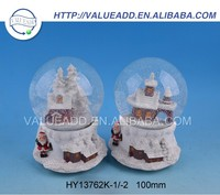 Best price XMAS resin hockey player snow globe fashion designed