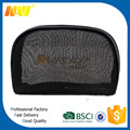 Promotional black nylon mesh make up bag with zipper