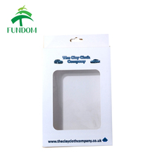 custom made high quality cheap paper transparent clear PVC window packaging boxes for clay cloth
