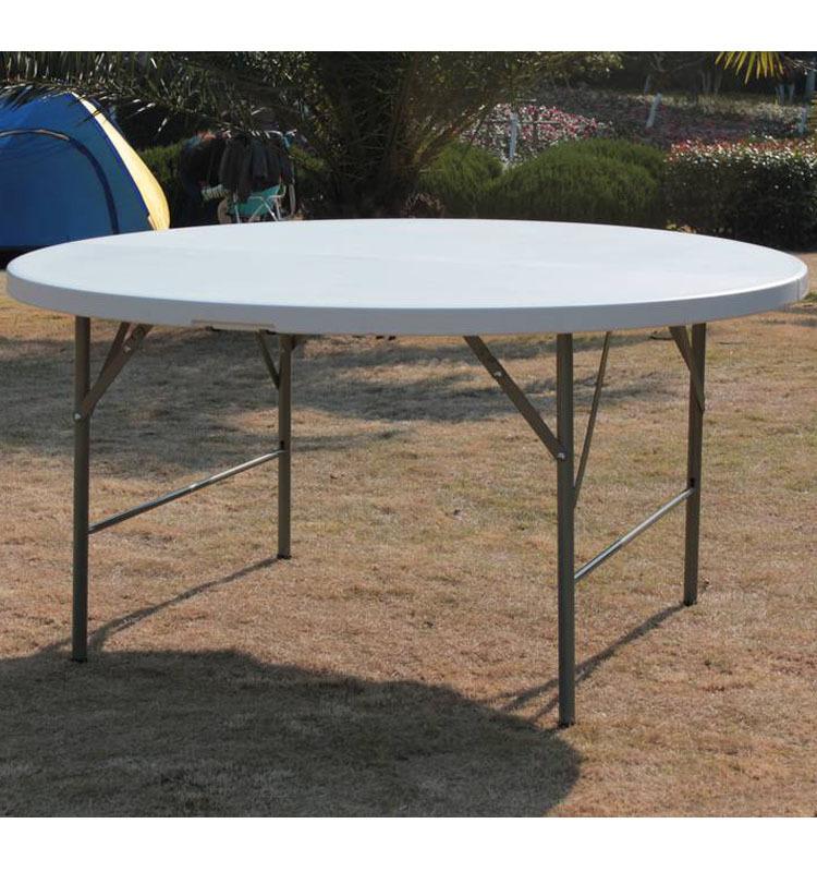 10person cheap round pedestal plastic folding dining table - Plastic folding dining table ...