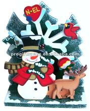 Snowman Christmas Wooden Music Box