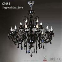 Black hanging crystal chandelier,Indoor decor german kristall for weddings